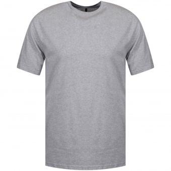 Versus Versace Long Line Grey Side Zip T-Shirt