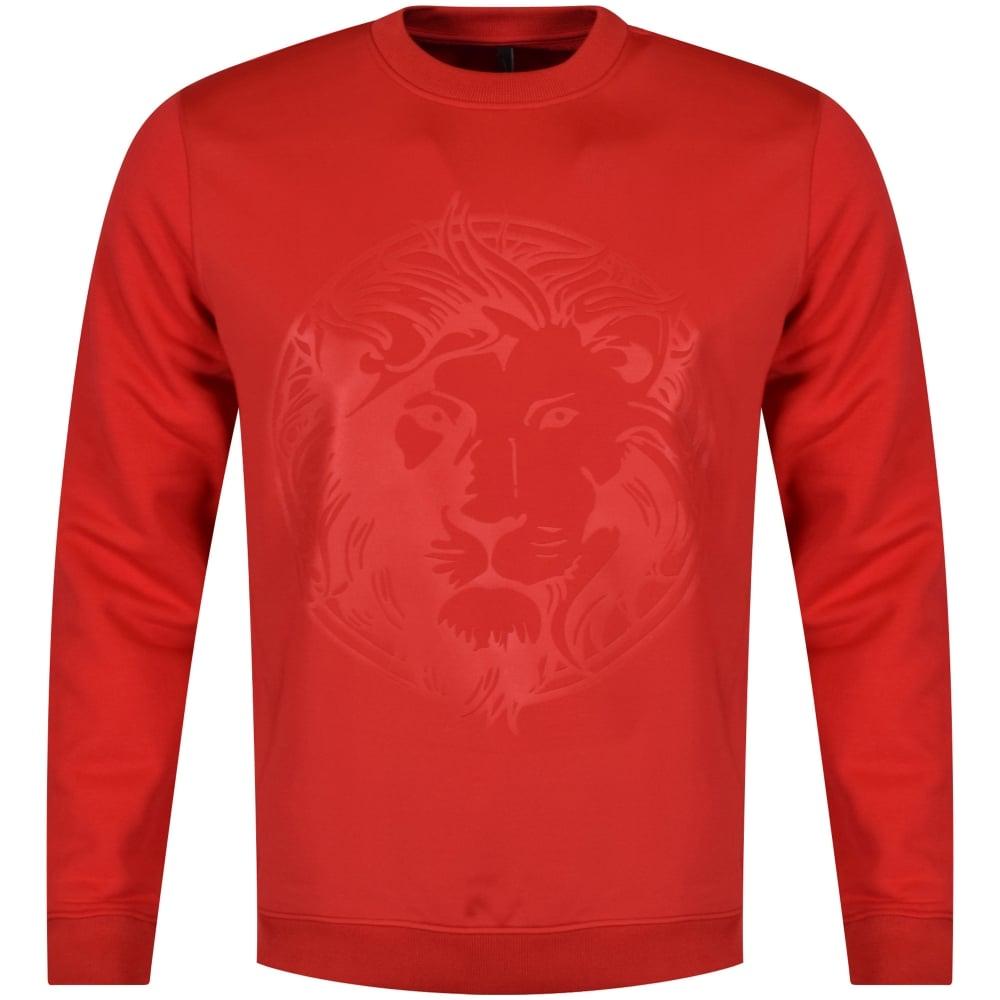 red versace sweatshirt