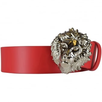 Versus Versace Red Lion Buckle Belt