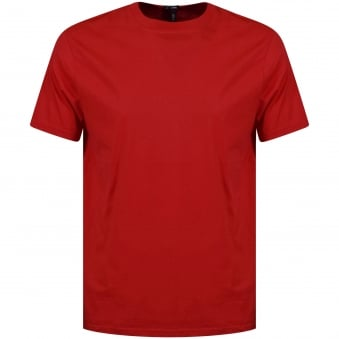 Versus Versace Red Tab Text T-Shirt
