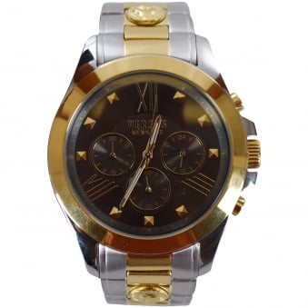 Versus Versace Silver & Gold Chronograph Watch