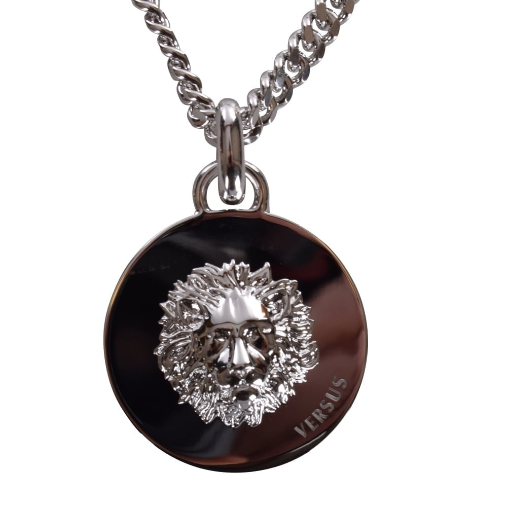 ef6e26448dc VERSACE ACCESSORIES Versus Versace Silver Lion Head Necklace - Men from  Brother2Brother UK