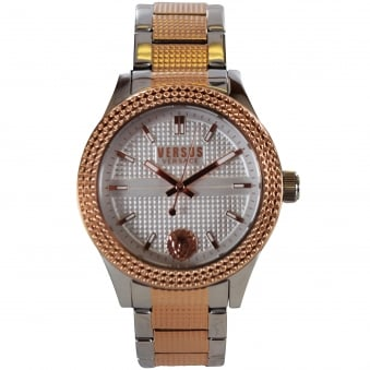 Versus Versace Silver/Rose Gold Bayside Watch