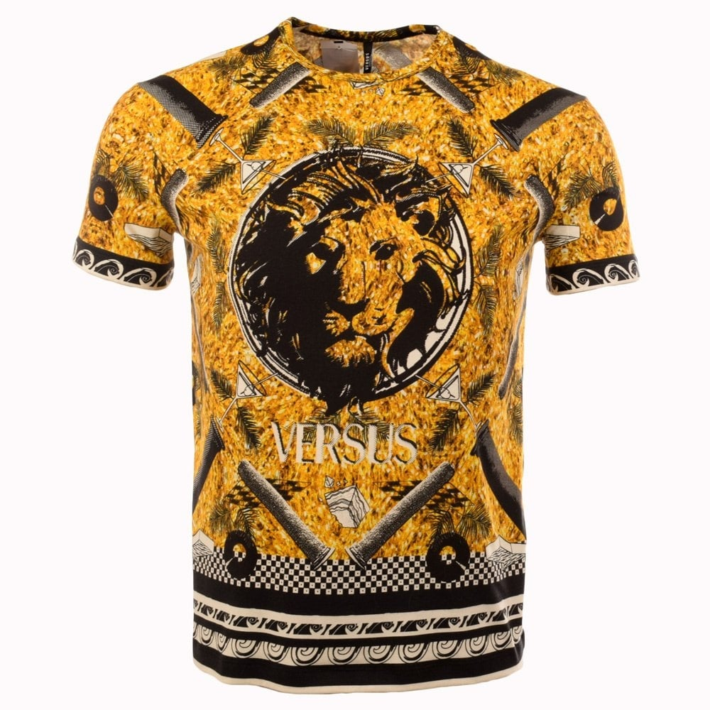 versus versace versus versace orange all over print t shirt versus versace from brother2brother uk. Black Bedroom Furniture Sets. Home Design Ideas