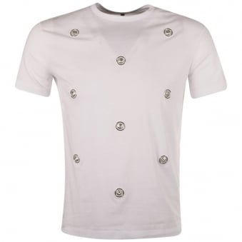 Versus Versace White All Over Lion Head T-Shirt