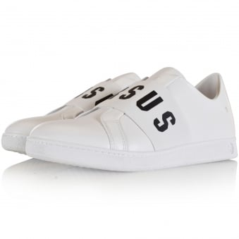 Versus Versace White Band Slip On Trainers