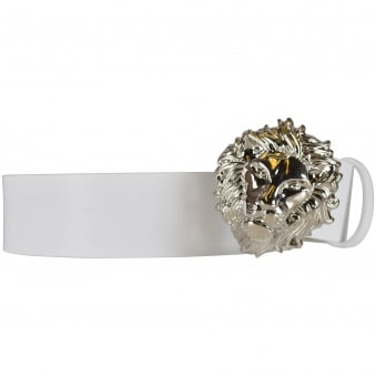 Versus Versace White Lion Buckle Belt