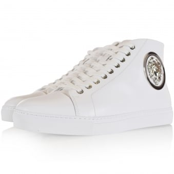 Versus Versace White Lion Head Logo Trainers