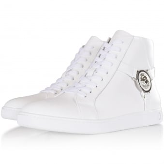 Versus Versace White Lion Hi Top Trainers