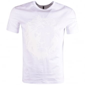 Versus Versace White on White Lion Head T-Shirt
