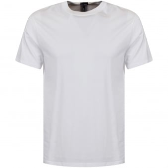 Versus Versace White Tab Text T-Shirt