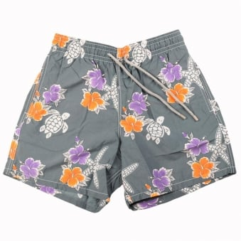 Vilebrequin Grey Gris Flower Swimshort