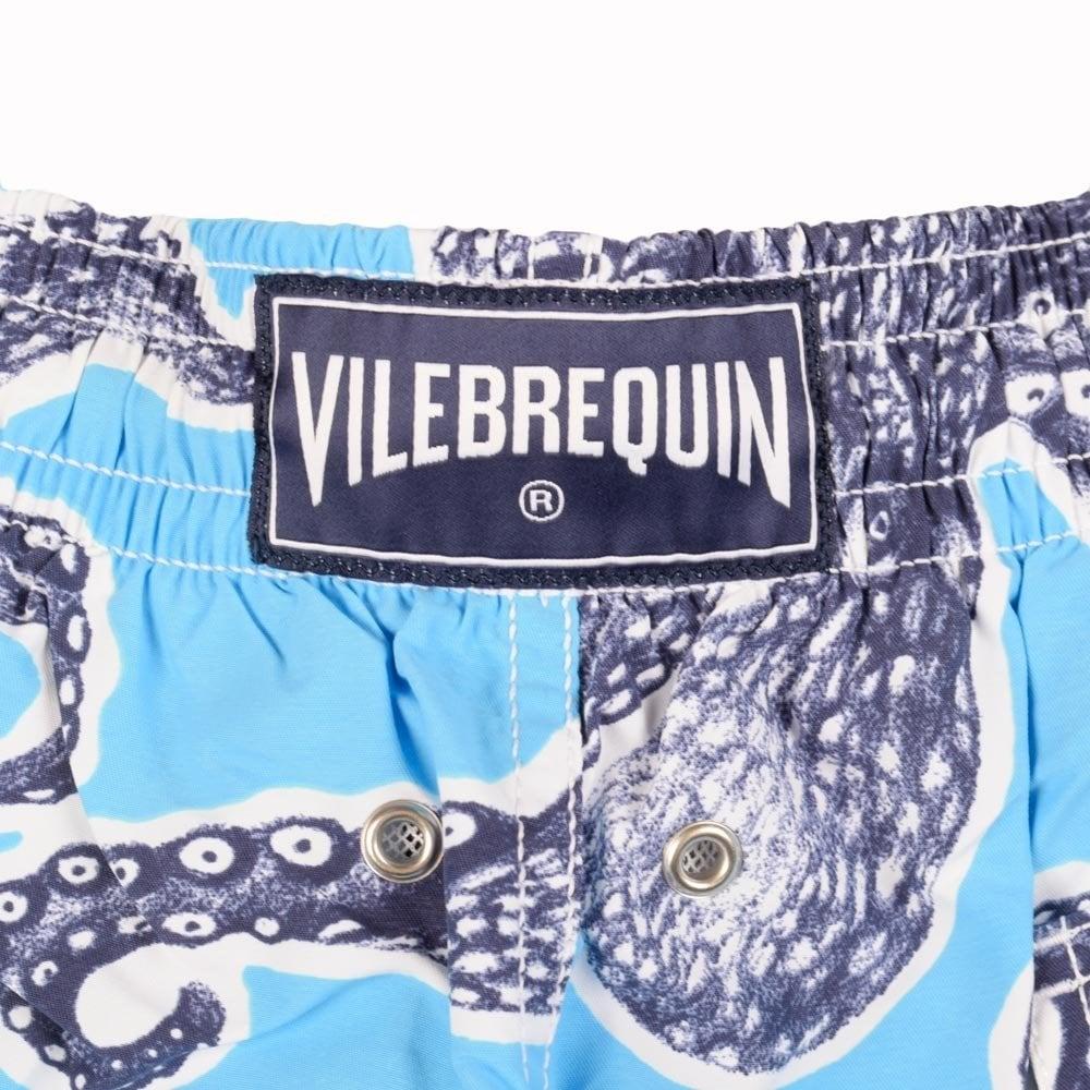 615c4cb960 VILEBREQUIN Vilebrequin Moorea Sky Blue Octopus Swimshorts - Men ...