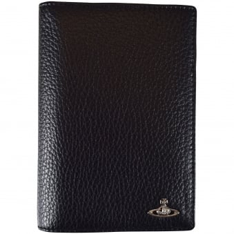 Vivienne Westwood Accessories Black Grained Leather Passport Holder
