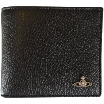 Vivienne Westwood Accessories Black Grained Leather Wallet