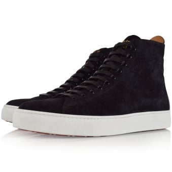 Vivienne Westwood Accessories Black Hi Top Orb Logo Trainers