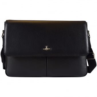 Vivienne Westwood Accessories Black Milano Postino Bag