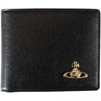 Vivienne Westwood Accessories Black Saffiano Credit Card Wallet