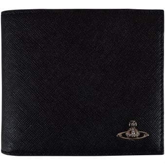 Vivienne Westwood Accessories Black Thin Grained Leather Wallet