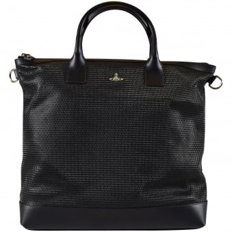 Vivienne Westwood Accessories Black Wimbledon Shopper Bag