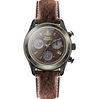 Vivienne Westwood Brown Sotheby Leather Watch