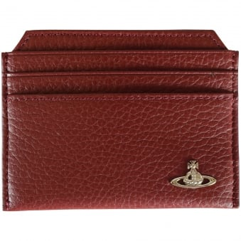 Vivienne Westwood Burgundy Grained Leather Card Holder