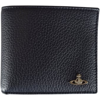 Vivienne Westwood Navy Grained Leather Wallet