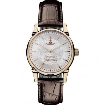 Vivienne Westwood Rose Gold Finsbury Leather Watch
