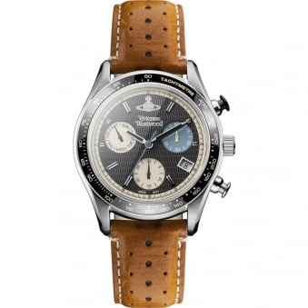 Vivienne Westwood Tan Sotheby Leather Watch