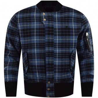 Vivienne Westwood Anglomania Blue Check Bomber Jacket