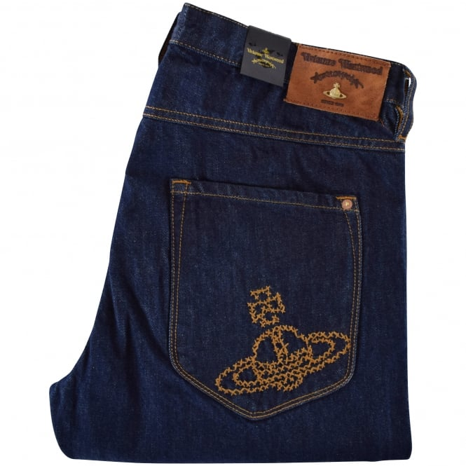 VIVIENNE WESTWOOD ANGLOMANIA Blue Johnstone Slim Fit Jeans