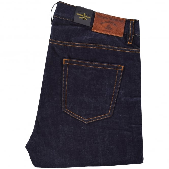 VIVIENNE WESTWOOD ANGLOMANIA Blue Logo Jeans