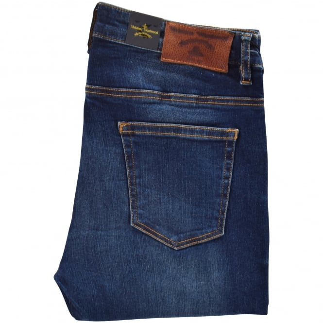 VIVIENNE WESTWOOD ANGLOMANIA Blue Skinny Jeans