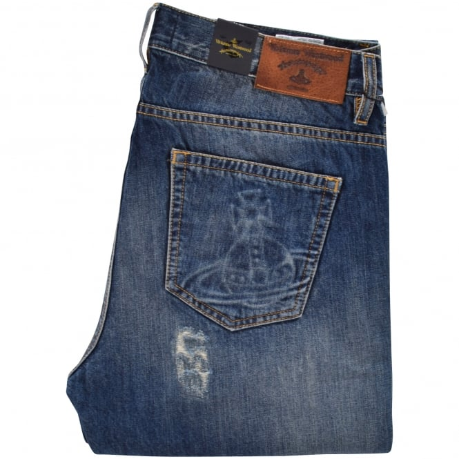 VIVIENNE WESTWOOD ANGLOMANIA Classic Tapered Blue Jeans