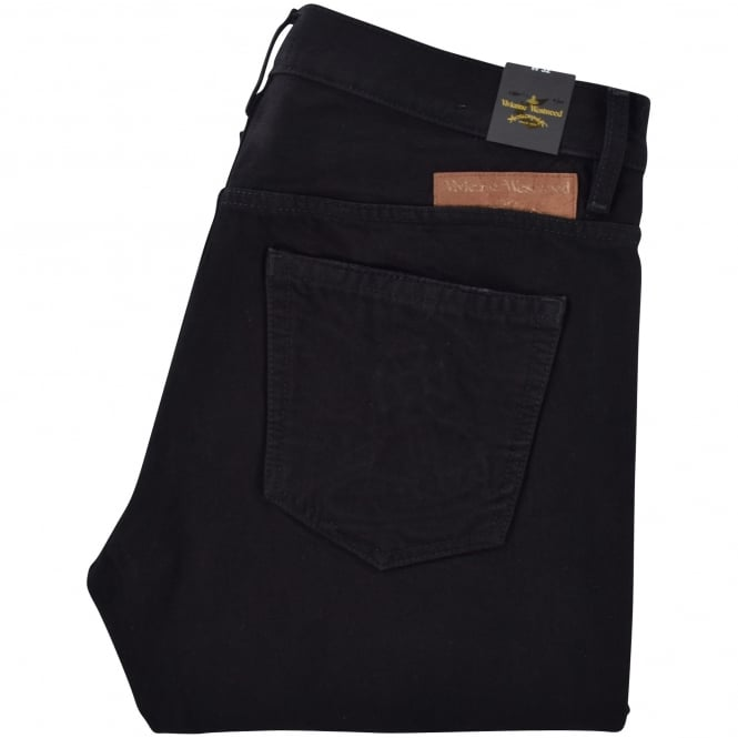 VIVIENNE WESTWOOD ANGLOMANIA Harri Black Destroyed Jeans