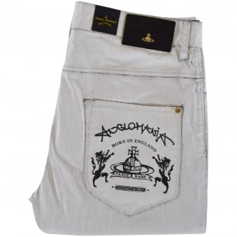 Vivienne Westwood Anglomania White Don Karnage Jeans