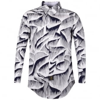 Vivienne Westwood Anglomania White Pattern Longline Shirt