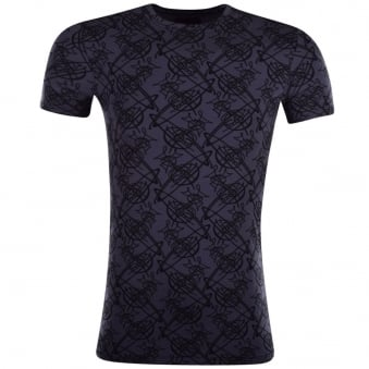 Vivienne Westwood Blue All Over Orb T-Shirt