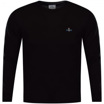 Vivienne Westwood Man Black Knitted Logo Jumper