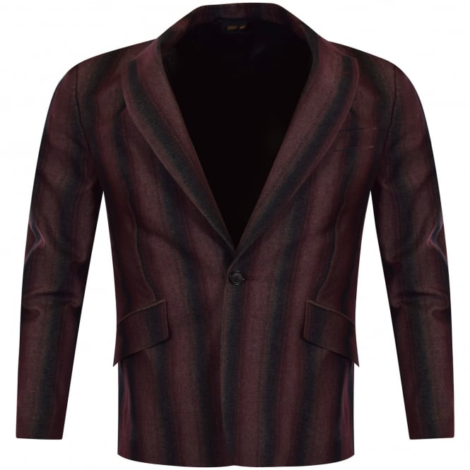 VIVIENNE WESTWOOD MAN Burgundy/Black Striped Blazer