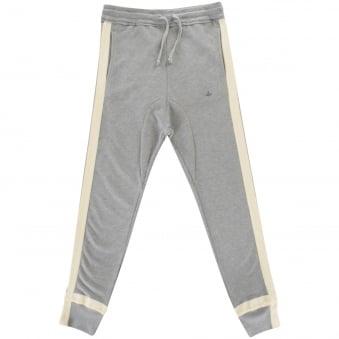 Vivienne Westwood Man Grey/White Detailing Jogging Bottoms