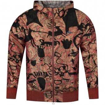 Vivienne Westwood Man Hooded Multi-Print Lightweight Bomber Jacket