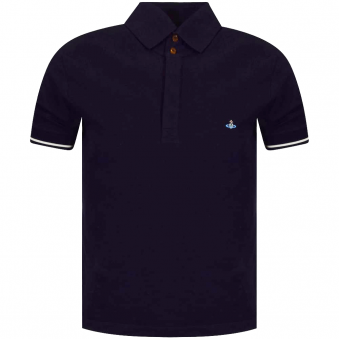 Vivienne Westwood Man Navy Short Sleeved Polo Shirt