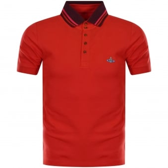 Vivienne Westwood Man Red Logo Polo Shirt