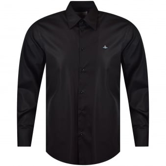 vivienne Westwood Black Long Sleeve Logo Shirt
