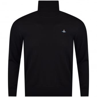 Vivienne Westwood Black Roll Neck Jumper
