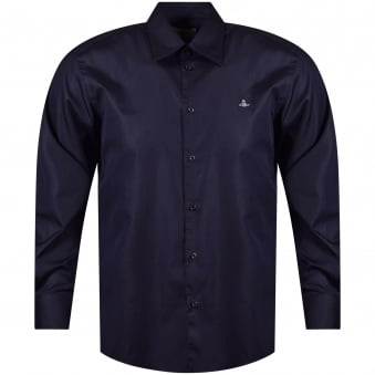 Vivienne Westwood Navy Long Sleeved Shirt