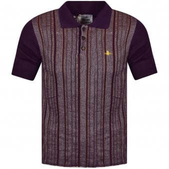 Vivienne Westwood Purple Wool Polo Shirt