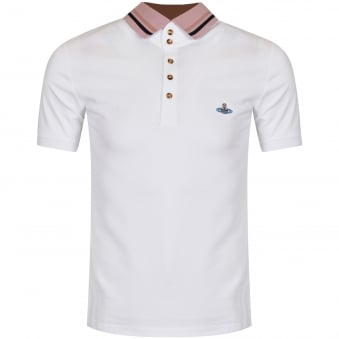 Vivienne Westwood White Short Sleeved Polo Shirt