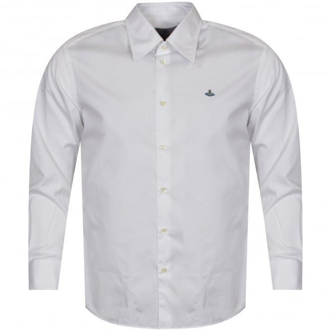VIVIENNE WESTWOOD MAN White Long Sleeve Logo Shirt